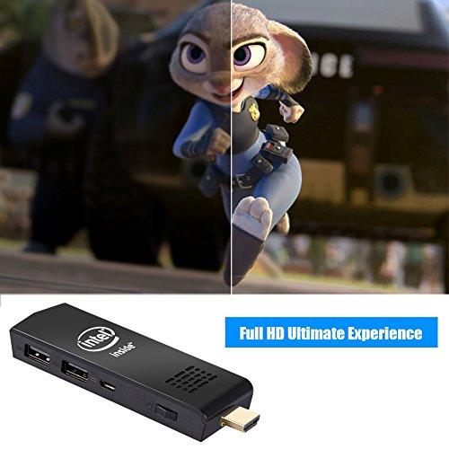 W5 Mini PC Windows 10 Computer Stick Intel Z3736F Quad Core up to 1.83GHz,2GB RAM 32GB ROM,H.265 with Built in Wifi,Bluetooth 4.0 by NEXBOX (Image #4)'