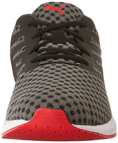 PUMA Mens Flare Running Shoe Black/White/Hrr/Asphalt n8rmHJ