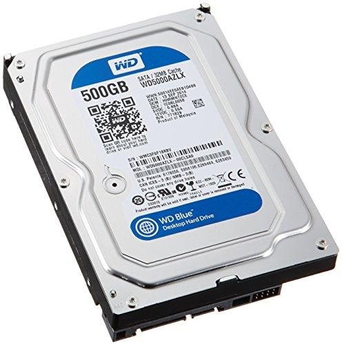 Western Digital Blue Wd5000azlx 500Gb 7200 Rpm 32Mb Cache Sata 6 0Gb S 3 5  Internal Hard Drive Bare Drive