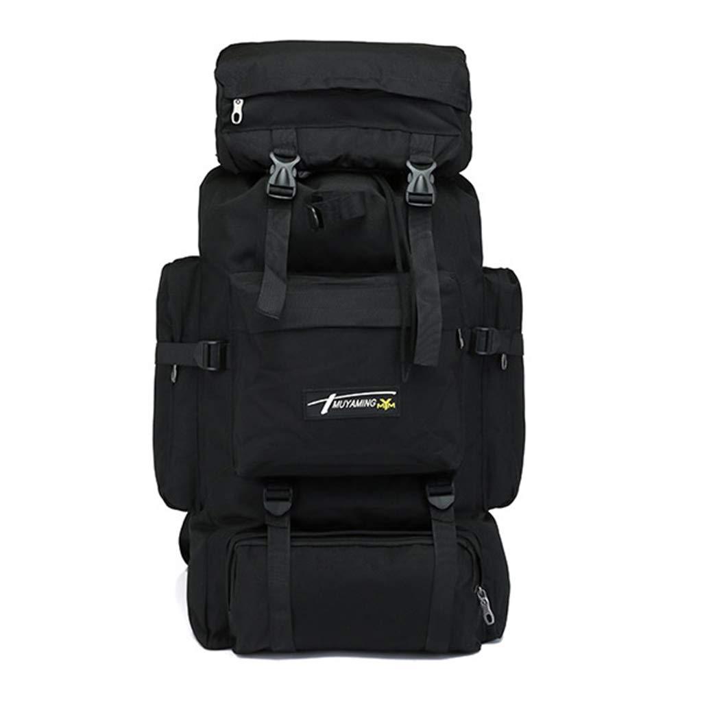 Noir  MMM @ 70L sac à dos de randonnée de camouflage extérieur, sac à dos de sport de loisirs anti-transpiration décompression, sac à dos de grande capacité hommes et femmes de voyage sac à dos
