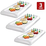 inflatable soda - Inflatable Salad Bar Buffet Ice Cooler Beverage Serving Bar Food Drink Holder for Party Picnic BBQ Luau with Drain Plug( 3pack)