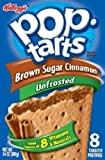Kellogg's, Pop-Tarts, Unfrosted Brown Sugar Cinnamon, 8 Count, 14oz Box (Pack of 2)