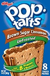 Kellogg\'s, Pop-Tarts, Unfrosted Brown Sugar Cinnamon, 8 Count, 14oz Box (Pack of 2)