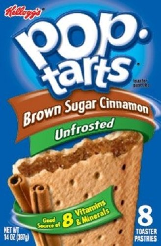 (Kellogg's, Pop-Tarts, Unfrosted Brown Sugar Cinnamon, 8 Count, 14oz Box (Pack of)