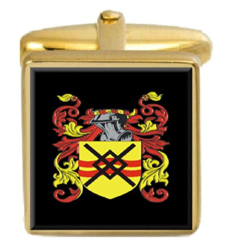 Select Gifts Anderson England Family Crest Coat Of Arms Heraldry Cufflinks Box Set Engraved