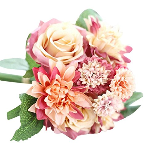 Artificial flora home accessories home and kitchen home and wawer artificial flowers petals feel and look like fresh rosesgypsophilapeony floral artificial flower bouquet floral arrangement perfect for wedding mightylinksfo