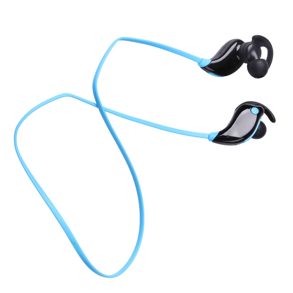 Alloet Wireless Bluetooth Stereo Headset In-ear Sport Music HIFI Earphone Sweatproof BT4.1 EDR Handsfree for Bluetooth Devices (Blue)