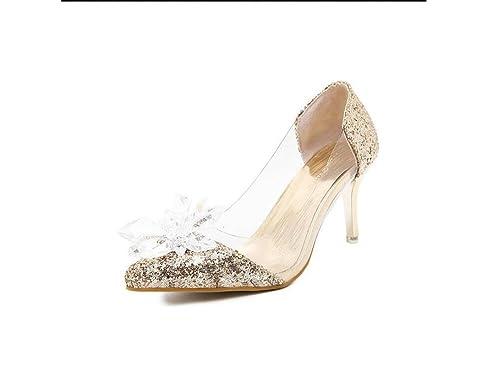 nouvelle qualité coupe classique technologies sophistiquées Ximu Classique Cristal Chaussures Princesse Astuce ...