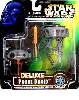 - Star Wars Deluxe Probe Droid With Proton Torpedo & Self-Destruct Exploding Head