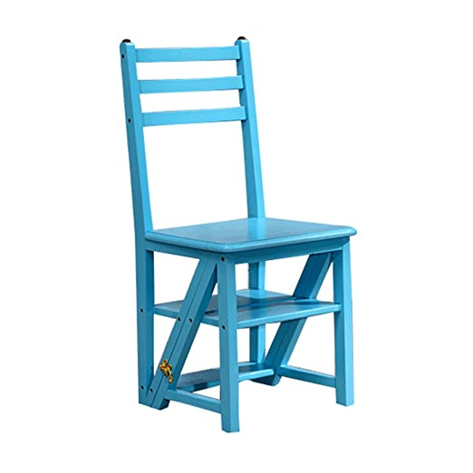 Taburetes Paso taburete, hogar plegable escalera silla de madera ...