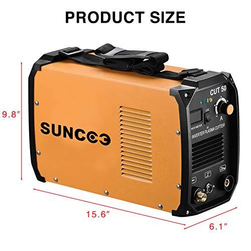 SUNCOO Cut 50 Plasma Cutter Electric DC Inverter Cutting Machine with Digital Display Dual Voltage 110/220V, 1/2'' Clean Cut by SUNCOO (Image #9)
