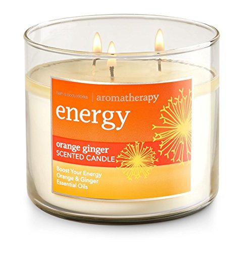 Bath and Body Works 3-wick Limited Edition Candle AROMATHERAPY COLLECTION (Energy - Orange Ginger) (Scented Orange Candles)