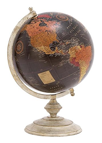 Deco 79 Metal Globe, 12-Inch by 18-Inch