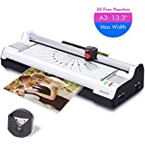 """Ejoyous 4-in-1 Hot and Cold Laminator Machine for A3/A4/A6,  Laminating Machine with 20 Pouches, Support 13.3"""" Max Width, 4 Mins Warm-up, 3 Cut Ways, Jam Free Lamination Machine for Home Office School"""
