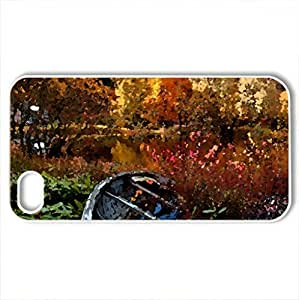 Autumn - Case Cover for iPhone 4 and 4s (Lakes Series, Watercolor style, White)