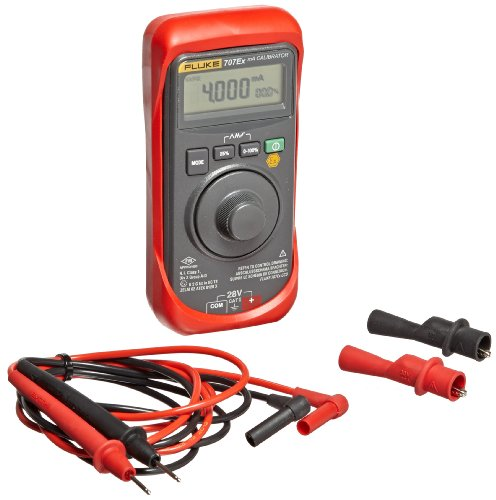 Fluke 707EX Intrinsically Safe MA Loop Calibrator, 28V Voltage, 24mA Current, 0.015 percent Accuracy ()