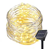 GAXmi Solar String Lights 300 LED Waterproof Fairy Copper Wire Lighting for Outdoor Indoor Christmas Garden Party Dancing Wedding (30m/98.4ft Warm White)