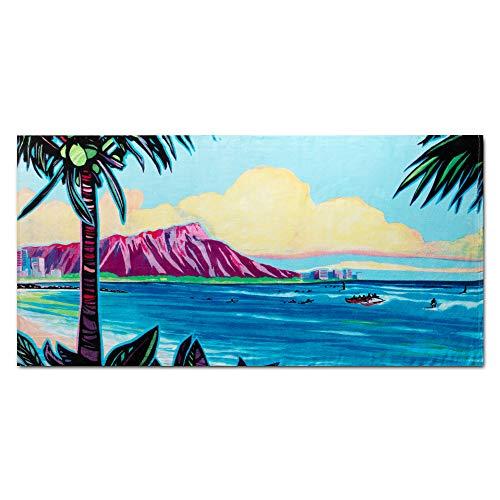 (ISLAND DAZE Christy Shinn Beach Towel - Large Beach Towel (30 x 60 Inches) - 100% Cotton Pool Towel - Hawaiian Beach Design)