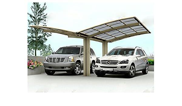 20 x 20 doble carports Metal Carport tienda garaje – Pérgola aluminio durable con canalón metal Vehículo refugio para coche, RV, barco y Copter, también es el lujo para Patio: Amazon.es: Jardín