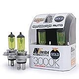 Infinra H4 (9003) 60/55W 3000K Super Yellow Xenon Halogen Headlight Bulbs (Pack of 2)