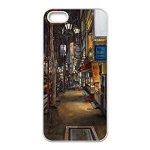 iPhone 4 4s Cell Phone Case White Urban drawing LSO7691653