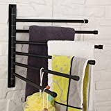 GERZ Bathroom Swing Arm Towel Bars Wall Mount