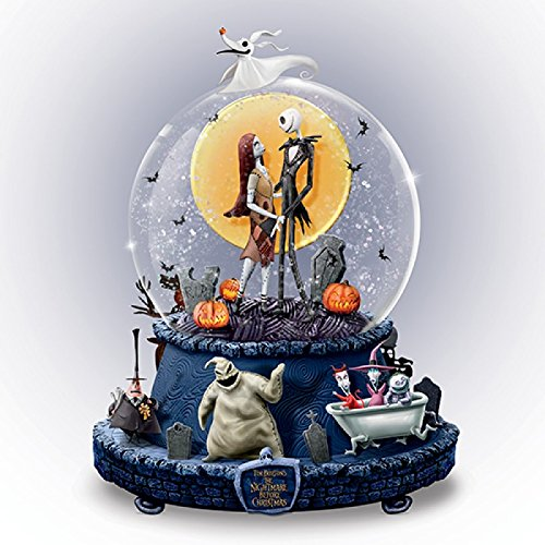 Disney The Nightmare Before Christmas Musical Glitter Globe With Rotating Base by The Bradford Exchange ()