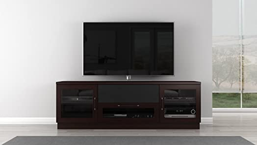 Furnitech 70 Contemporary TV Stand Media Console for Flat Screen and Audio Video Installations in a Wenge Finish