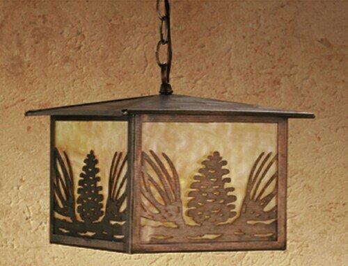 11 in. Mountain Pine Lantern Pendant ()
