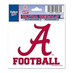 Alabama crimson tide ultra decal 3x4 football for Alabama football wall mural