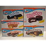 Drake's Cakes Bundle: Yodels 10 Ct, Coffee Cakes 10 Ct, Devil Dogs 8 Ct, Ring Dings 10 Ct, Funny Bones 10 Ct by Drake's