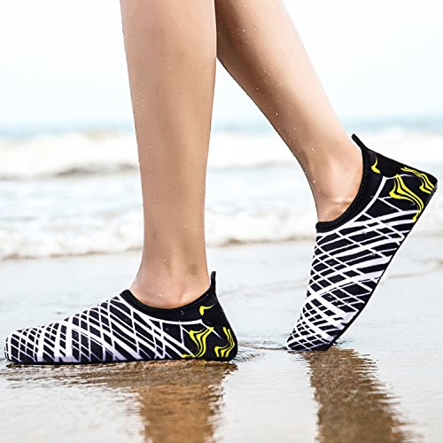 Barefoot Socks Men and White Shoes Dry Women Quick Shoes Bridawn Stripe Water for qxXwzxR8