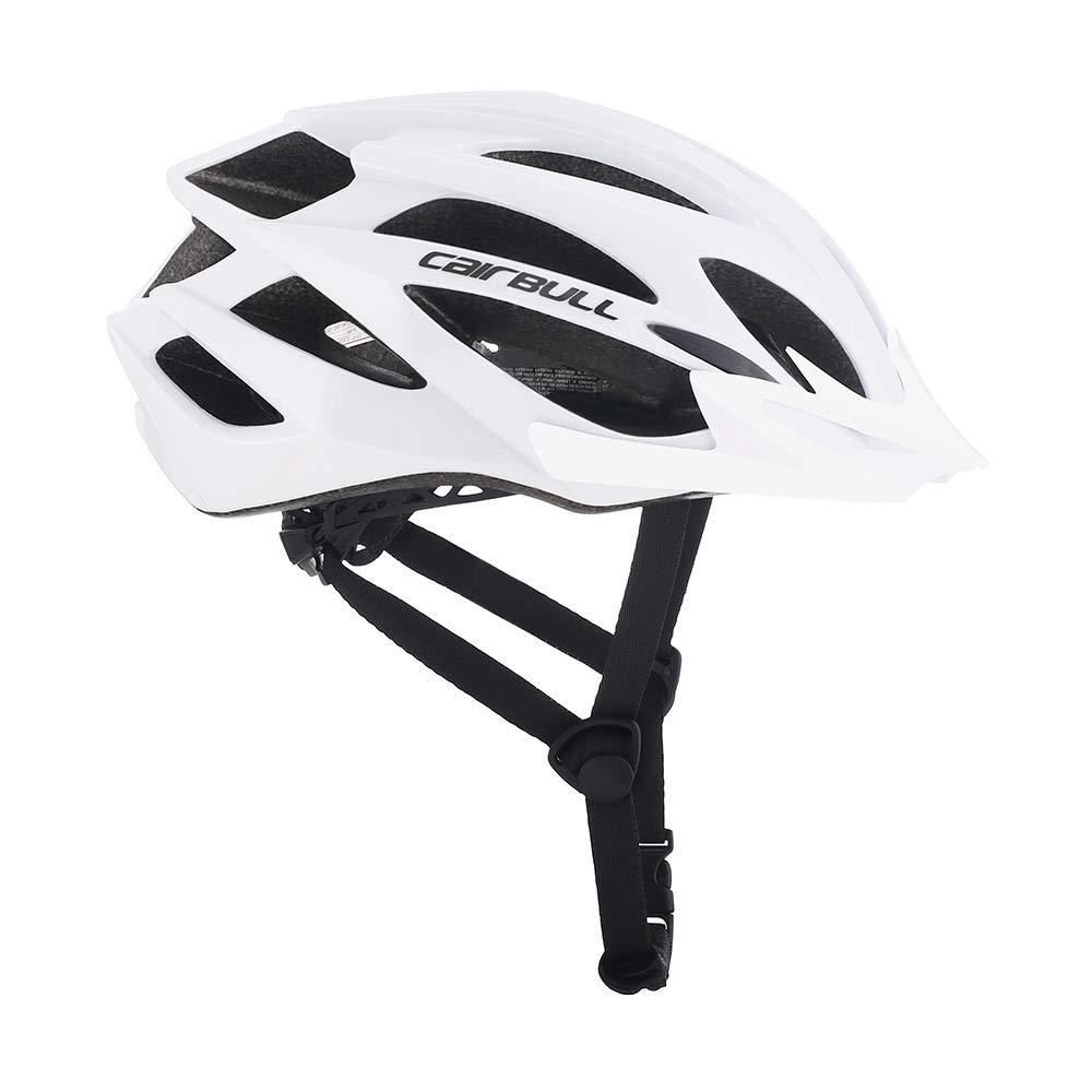 Cairbull X-Tracer Tour Ciclismo Casco Carretera Bicicleta de monta/ña Casco 55-61cm Cascos de Bicicleta Mate Negro Brillante Blanco