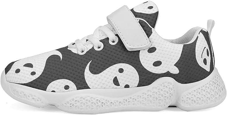 Zapatillas de Deporte Unisex para niños, Zapatillas de Deporte para Correr, Bonitas fantasías Blancas, Negras, Cierre de Velcro, Transpirables, Zapatillas de Senderismo: Amazon.es: Zapatos y complementos