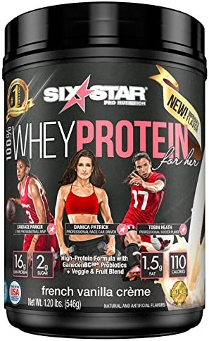 Six Star 100 Whey Protein for Her Powder, Whey Protein Isolate, French Vanilla, 1.2 pounds