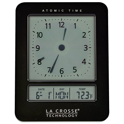 La Crosse Technology 617-1392B Atomic Digital Analog-Style Alarm Clock, ()