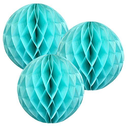 (Just Artifacts Tissue Paper Honeycomb Ball (Set of 3, 6inch, Seafoam) - Click for More Colors & Sizes!)