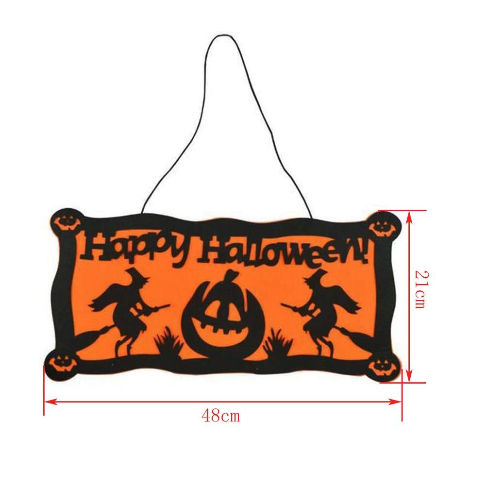 Indoor Outdoor Witch Skull Decor Wall Door Hanging Signs Banner Decoration Orgrimmar Halloween Door Hanger
