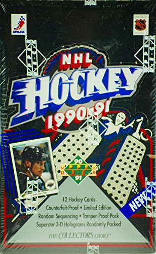NHL Hockey 1990 - 1991 - Upper Deck - Sealed Wax Box - 36 Packs Per Box - 12 Cards Per Pack - OOP - New - Mint - Sealed - Collectible
