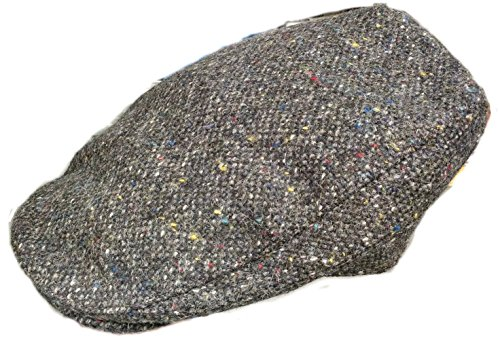 Hanna Hats Men's Donegal Tweed Donegal Touring Cap Charco...