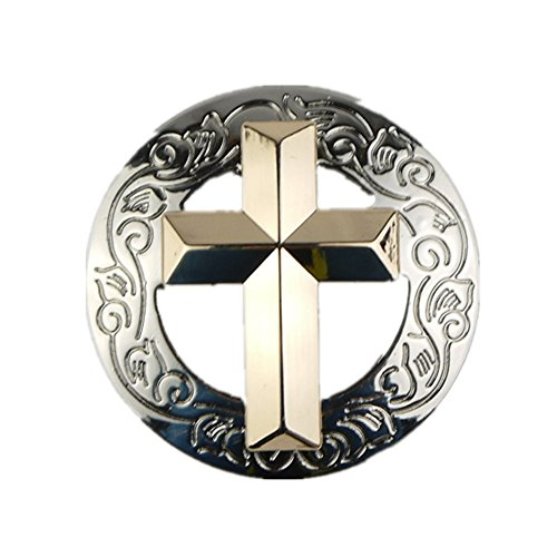 LIEOMO 1Pcs Leathercraft Western Antique Silver Christian Cross (Cross Concho)