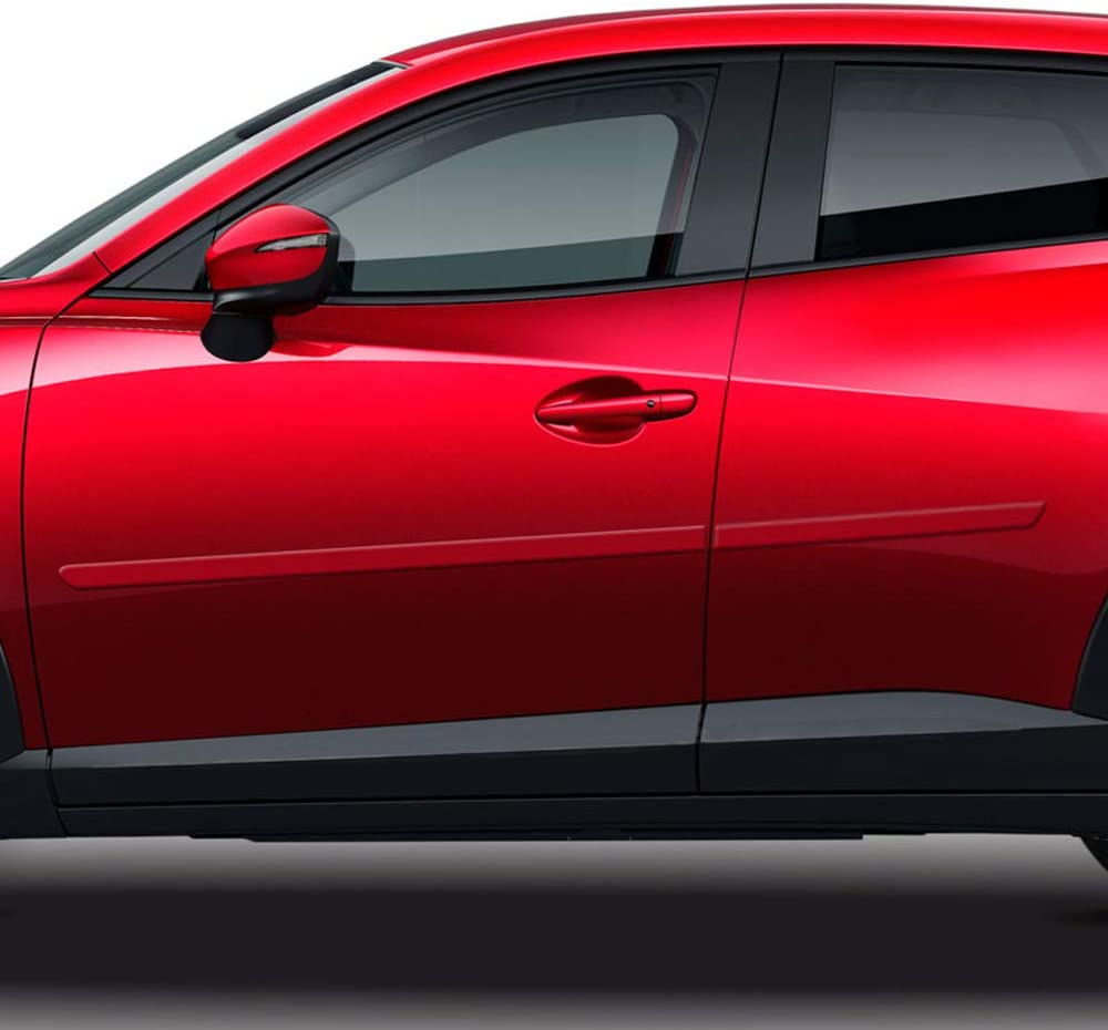 41W Dawn Enterprises FE-CX3 Finished End Body Side Molding Compatible with Mazda CX-3 Jet Black MICA
