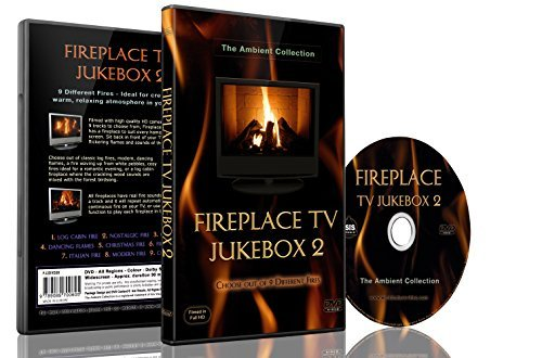 Fire DVD- Fireplace TV Jukebox 2-Choose out of 9 Fireplaces with real Burning Sounds