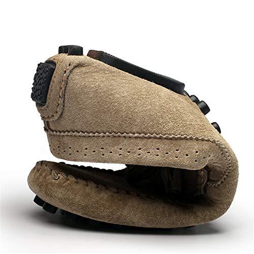 De Ciclismo Para Conducción Suelas khaki fei Gpf Primavera Camino Confort Luz Slip guisantes amp; ons Zapatos Zapatos 44 Cuero Loafers Lazy Shoes Hombre FnYxHxpv