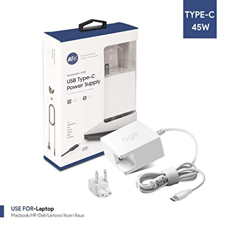 Amazon.com: [UL Listed] 60 paquetes KFD 45W USB-C cargador ...