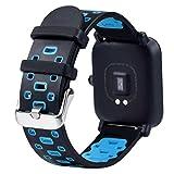 Alonea Amazfit Bip Watch Band, Lightweight Ventilate Soft Silicone Wrist Strap for Amazfit Bip Youth Watch (B❤️)