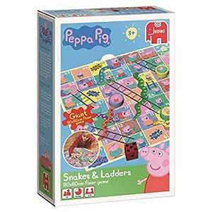 Disney Peppa Pig - Juego de mesa de serpientes y escaleras