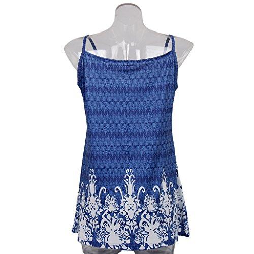 Plisados Corto Magideal frente Pliegues Fresco Vestido Azul Túnica Mujeres 4xl Tanque Plisado De q1rwyAgX14