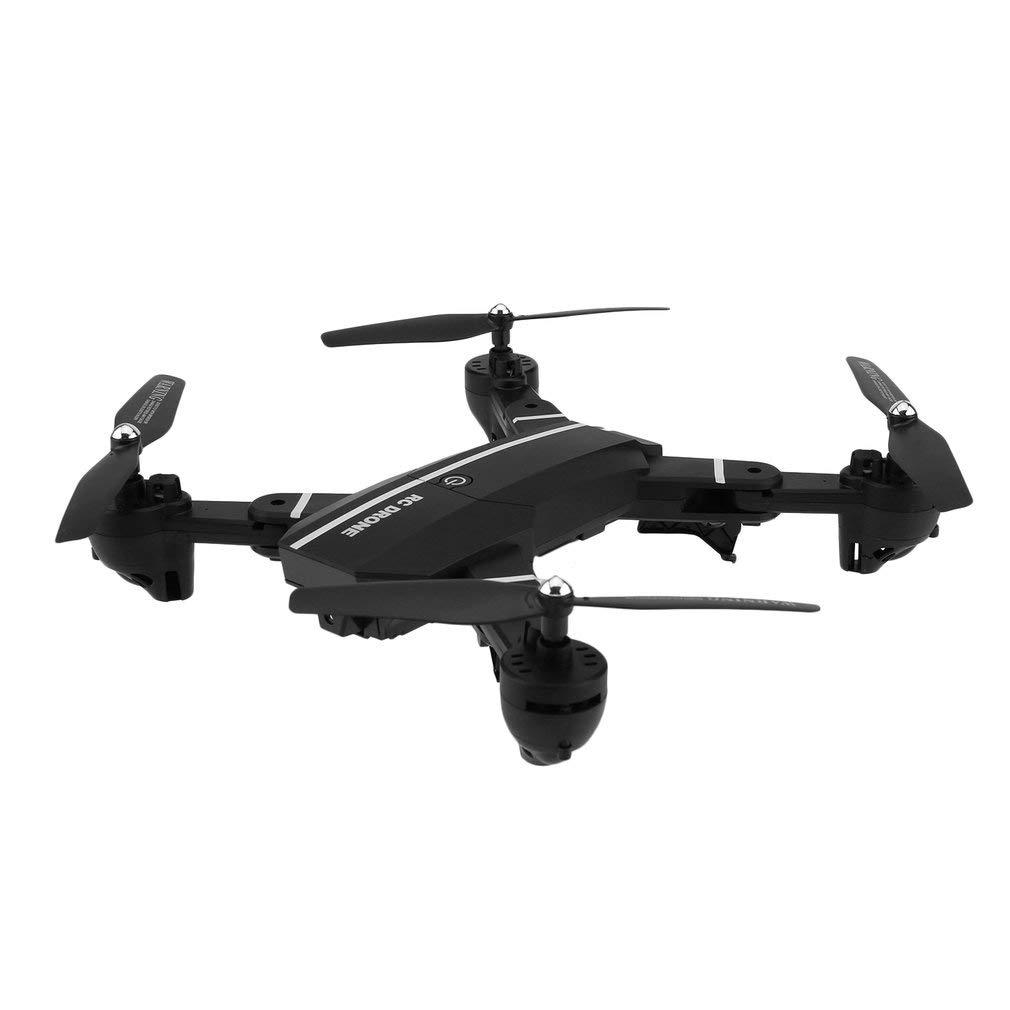 KinshopS Mini UAV Faltbare HD-Kamera Echtzeitübertragung Vierachsfernsteuerung Höhensteuerung Headless-Modus Schwarz Drohne Spielzeug Anwendungssteuerung für Anfänger und Kinder