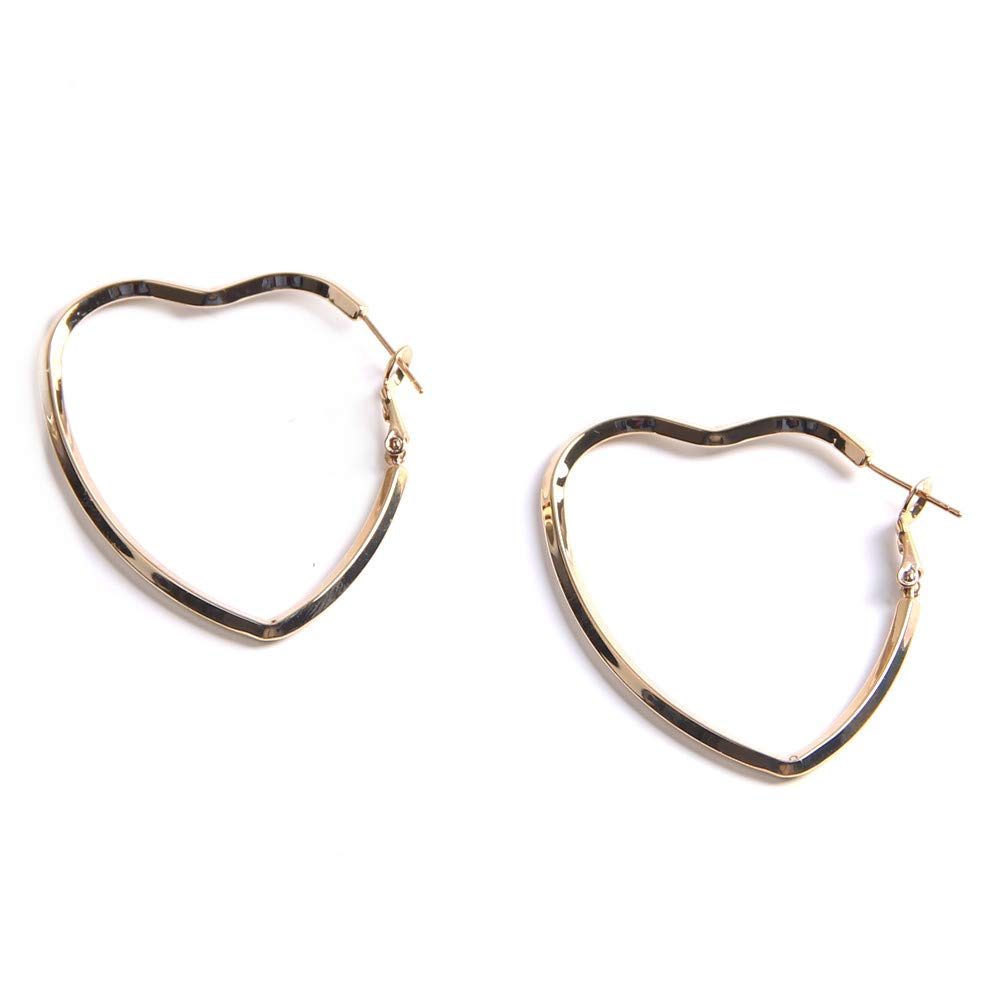 YESLADY Wire Big Heart Dangle Earrings Hook Earrings For Women Girls